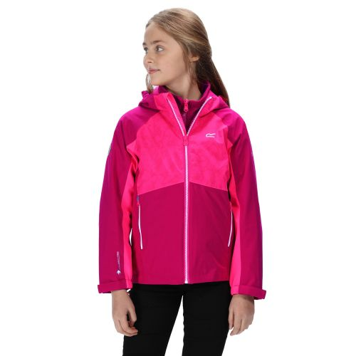 Kids' Hydrate IV Reflective Waterproof 3 In 1 Jacket Dark Cerise Neon Pink